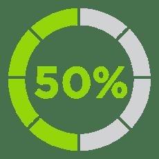 Icon 50% Less