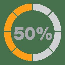 50% Less